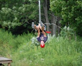 Upside Down Zip Line